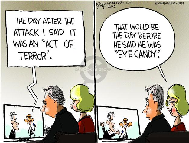 Cartoonist Chip Bok  Chip Bok's Editorial Cartoons 2012-10-18 Obama Romney