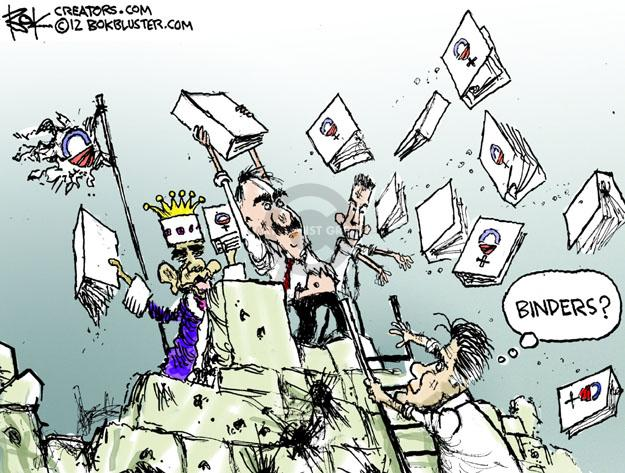 Cartoonist Chip Bok  Chip Bok's Editorial Cartoons 2012-10-19 Obama Romney