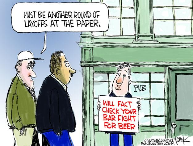 Cartoonist Chip Bok  Chip Bok's Editorial Cartoons 2012-10-22 journalism