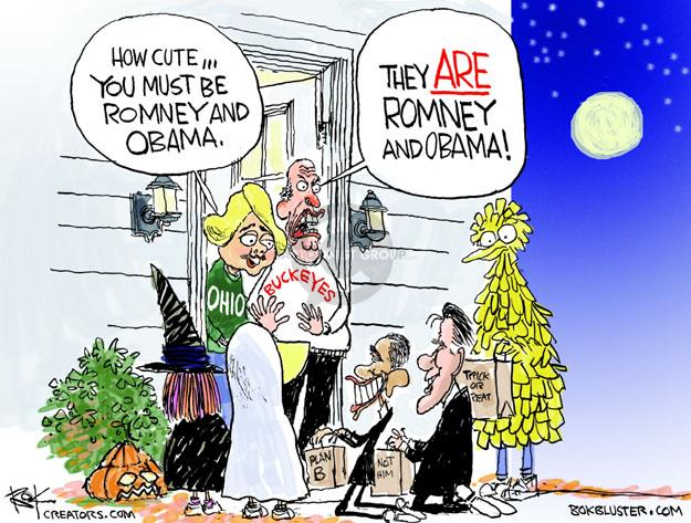 Cartoonist Chip Bok  Chip Bok's Editorial Cartoons 2012-10-26 Obama Romney
