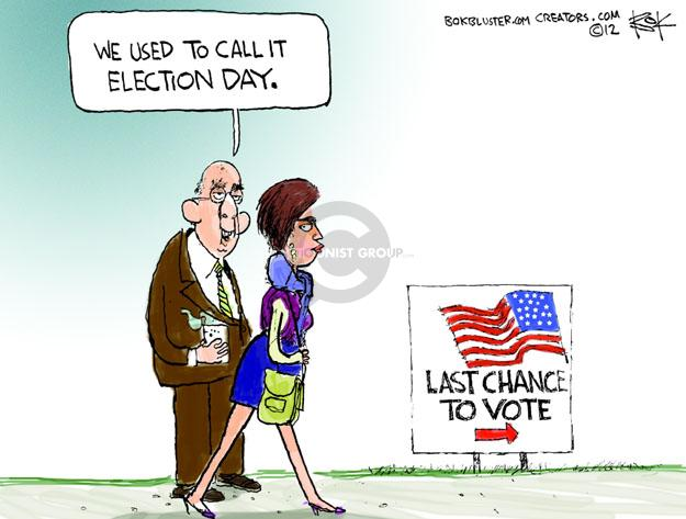 Cartoonist Chip Bok  Chip Bok's Editorial Cartoons 2012-11-06 election day