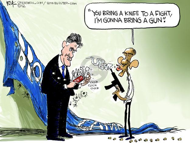 Cartoonist Chip Bok  Chip Bok's Editorial Cartoons 2012-11-09 Obama Romney