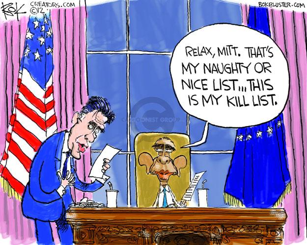 Cartoonist Chip Bok  Chip Bok's Editorial Cartoons 2012-11-30 Obama Romney