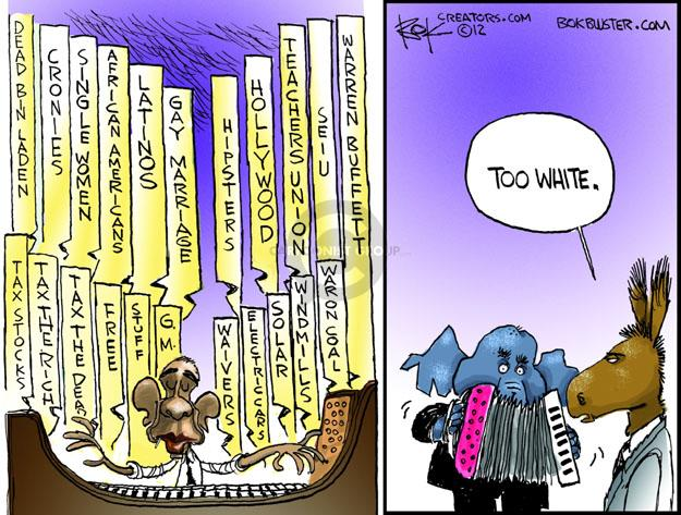 Cartoonist Chip Bok  Chip Bok's Editorial Cartoons 2012-12-04 Obama republicans