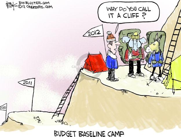 Why do you call it a cliff? 2012. 2011. 2010. Budget baseline camp.