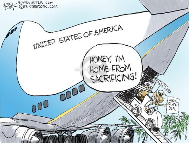 Cartoonist Chip Bok  Chip Bok's Editorial Cartoons 2013-01-02 Obama economy