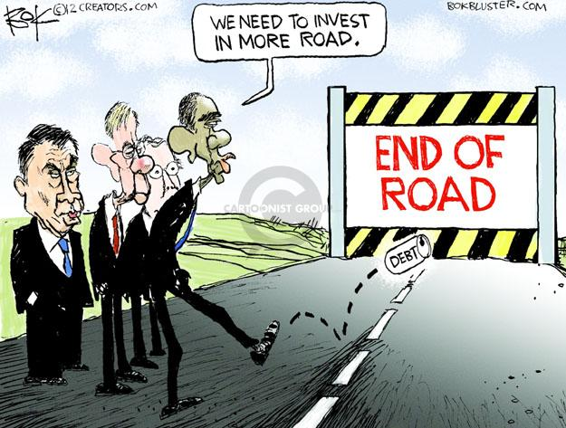 Cartoonist Chip Bok  Chip Bok's Editorial Cartoons 2013-01-14 Obama republicans