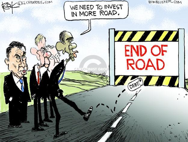 Cartoonist Chip Bok  Chip Bok's Editorial Cartoons 2013-01-14 deficit