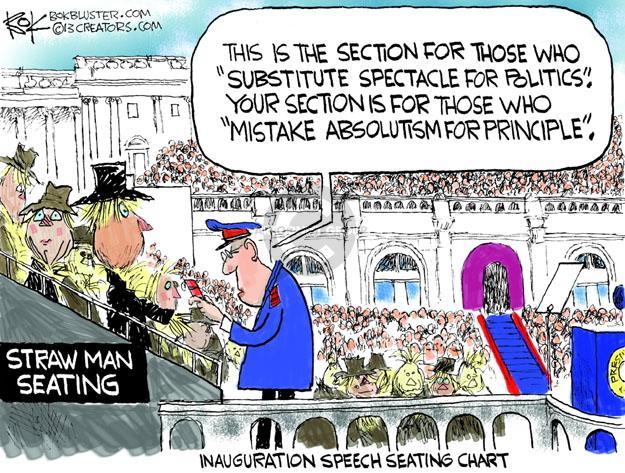 Cartoonist Chip Bok  Chip Bok's Editorial Cartoons 2013-01-22 principle