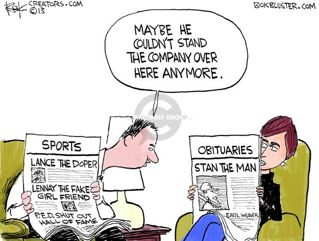 Cartoonist Chip Bok  Chip Bok's Editorial Cartoons 2013-01-25 college sports
