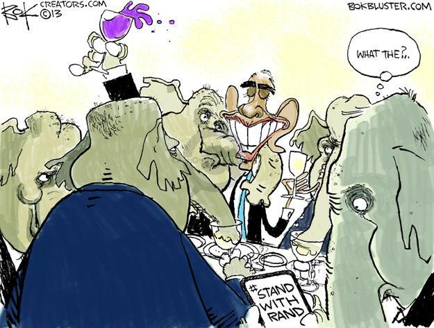 Cartoonist Chip Bok  Chip Bok's Editorial Cartoons 2013-03-07 filibuster