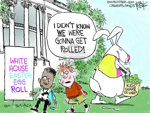 Cartoonist Chip Bok  Chip Bok's Editorial Cartoons 2013-03-25 egg white