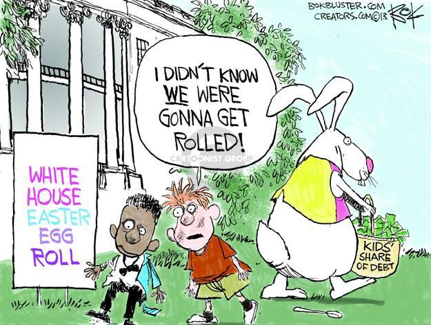 Cartoonist Chip Bok  Chip Bok's Editorial Cartoons 2013-03-25 deficit