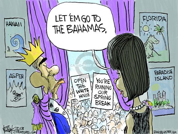 Cartoonist Chip Bok  Chip Bok's Editorial Cartoons 2013-03-26 first lady
