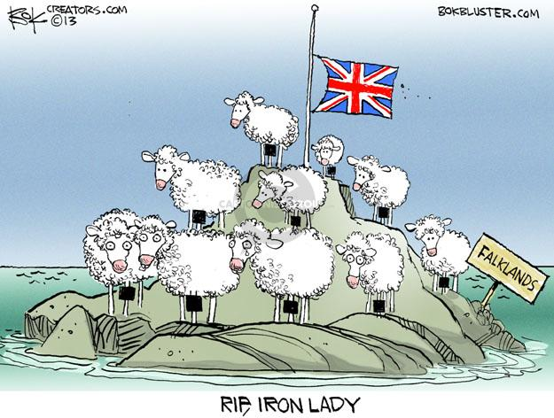 Falklands. RIP, Iron Lady.