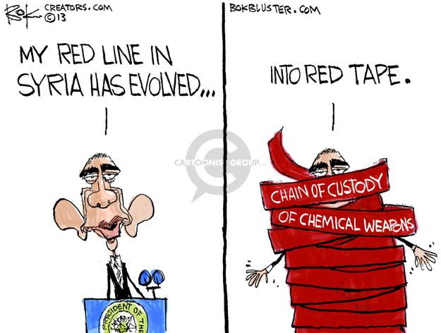 Cartoonist Chip Bok  Chip Bok's Editorial Cartoons 2013-05-04 chemical weapon