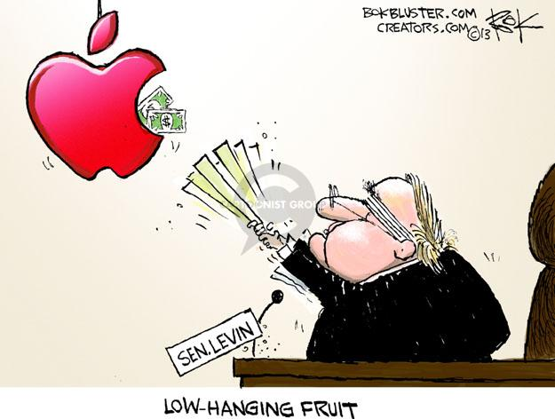 Cartoonist Chip Bok  Chip Bok's Editorial Cartoons 2013-05-23 apple