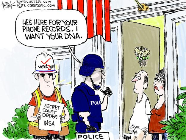Chip Bok  Chip Bok's Editorial Cartoons 2013-06-06 surveillance