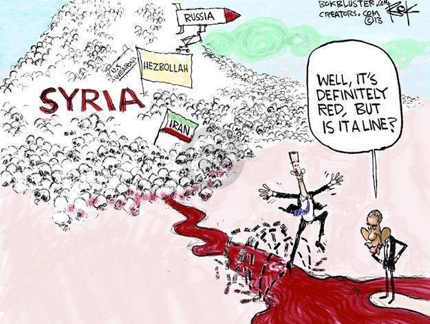 Cartoonist Chip Bok  Chip Bok's Editorial Cartoons 2013-06-07 international relations