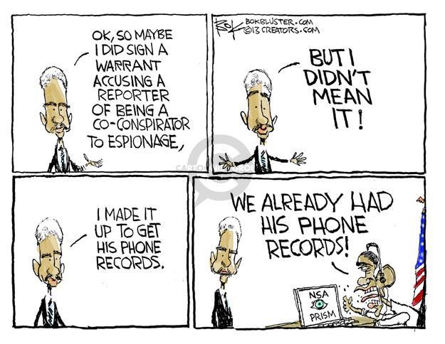 Chip Bok  Chip Bok's Editorial Cartoons 2013-06-13 media freedom