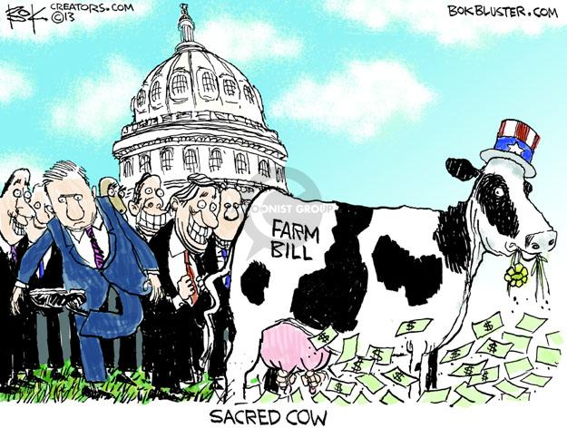 Cartoonist Chip Bok  Chip Bok's Editorial Cartoons 2013-06-20 farm