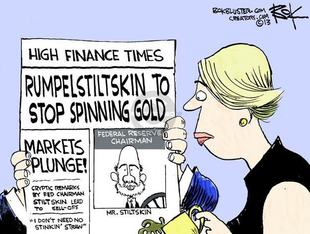 Chip Bok  Chip Bok's Editorial Cartoons 2013-06-22 Financial Market