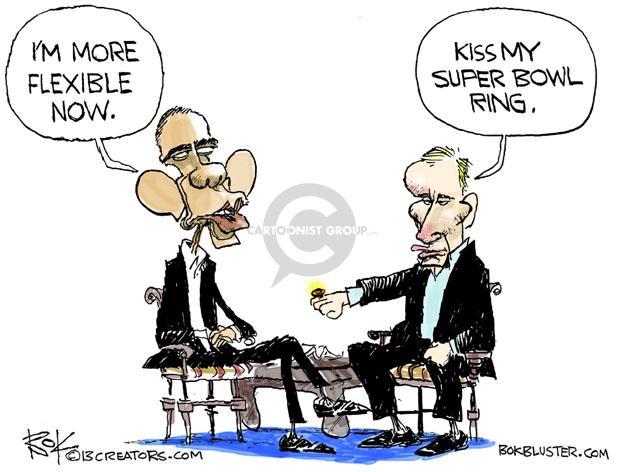 Cartoonist Chip Bok  Chip Bok's Editorial Cartoons 2013-06-24 Barack Obama Vladimir Putin