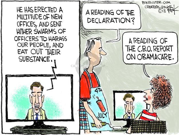 Cartoonist Chip Bok  Chip Bok's Editorial Cartoons 2013-07-01 Declaration of Independence