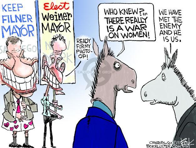 Cartoonist Chip Bok  Chip Bok's Editorial Cartoons 2013-08-12 democratic party