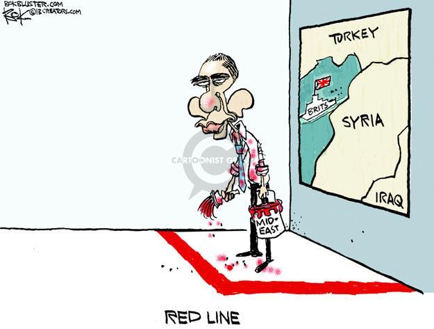 Cartoonist Chip Bok  Chip Bok's Editorial Cartoons 2013-08-30 international relations