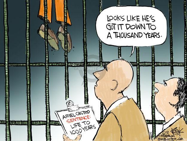 Cartoonist Chip Bok  Chip Bok's Editorial Cartoons 2013-09-05 prison