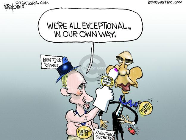 Cartoonist Chip Bok  Chip Bok's Editorial Cartoons 2013-09-17 Barack Obama Vladimir Putin Syria