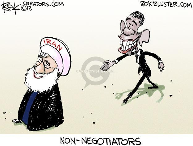 Chip Bok  Chip Bok's Editorial Cartoons 2013-09-27 ayatollah