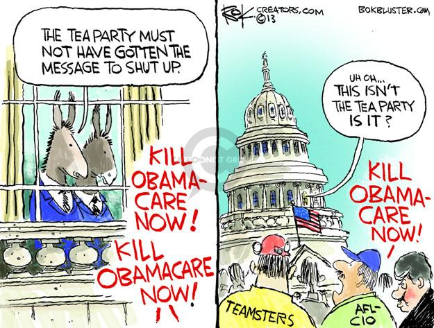 Cartoonist Chip Bok  Chip Bok's Editorial Cartoons 2013-09-30 congress health care