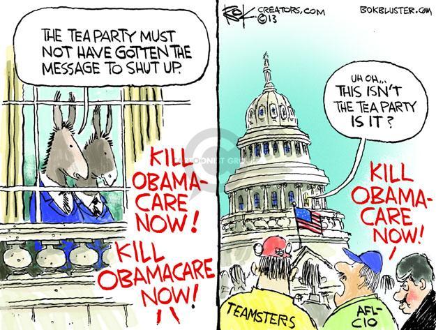 Cartoonist Chip Bok  Chip Bok's Editorial Cartoons 2013-09-30 congress health care
