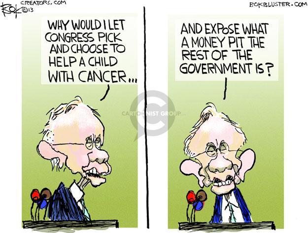 Cartoonist Chip Bok  Chip Bok's Editorial Cartoons 2013-10-04 money