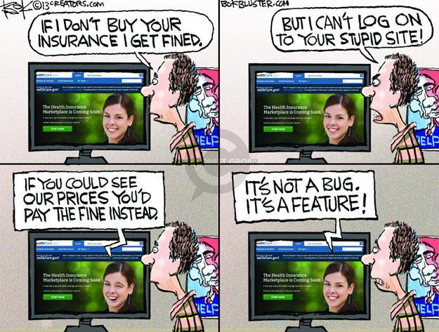 Cartoonist Chip Bok  Chip Bok's Editorial Cartoons 2013-10-17 fine