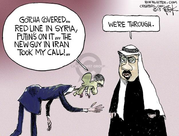 Cartoonist Chip Bok  Chip Bok's Editorial Cartoons 2013-10-24 Barack Obama Vladimir Putin Syria