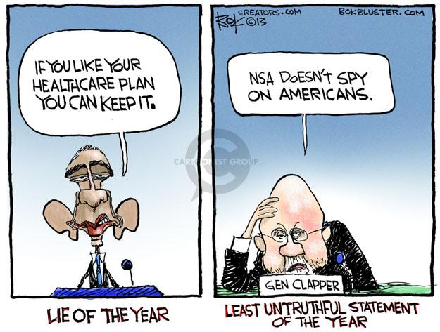 Chip Bok  Chip Bok's Editorial Cartoons 2013-12-20 surveillance