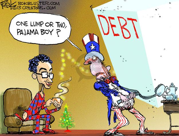 Cartoonist Chip Bok  Chip Bok's Editorial Cartoons 2014-01-02 deficit