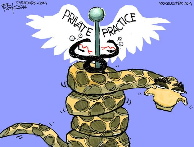 Chip Bok  Chip Bok's Editorial Cartoons 2014-01-06 Obamacare