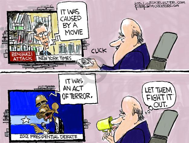 Chip Bok  Chip Bok's Editorial Cartoons 2014-01-11 2012 debate