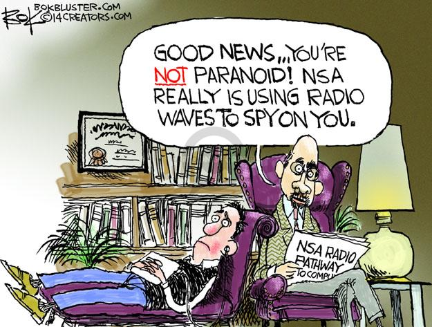 Chip Bok  Chip Bok's Editorial Cartoons 2014-01-15 surveillance