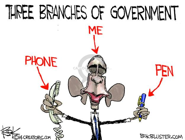 Chip Bok  Chip Bok's Editorial Cartoons 2014-01-29 branch of government
