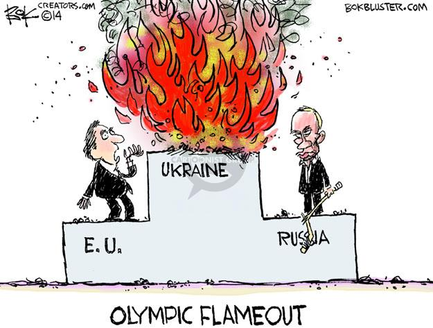 Chip Bok  Chip Bok's Editorial Cartoons 2014-02-19 Russia Olympics