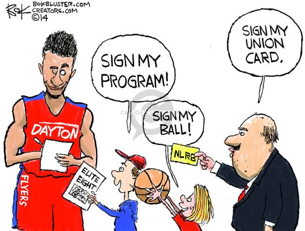 Cartoonist Chip Bok  Chip Bok's Editorial Cartoons 2014-03-29 college sports