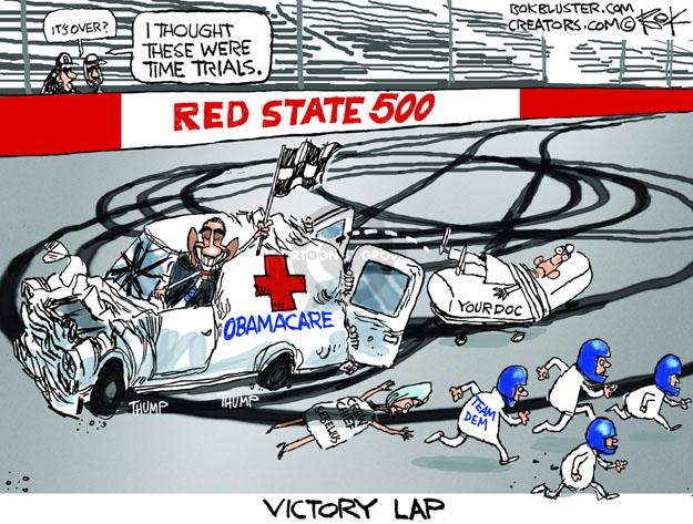 Cartoonist Chip Bok  Chip Bok's Editorial Cartoons 2014-04-02 healthcare.gov