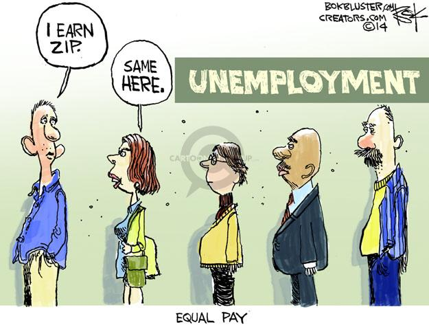 Cartoonist Chip Bok  Chip Bok's Editorial Cartoons 2014-04-08 employment