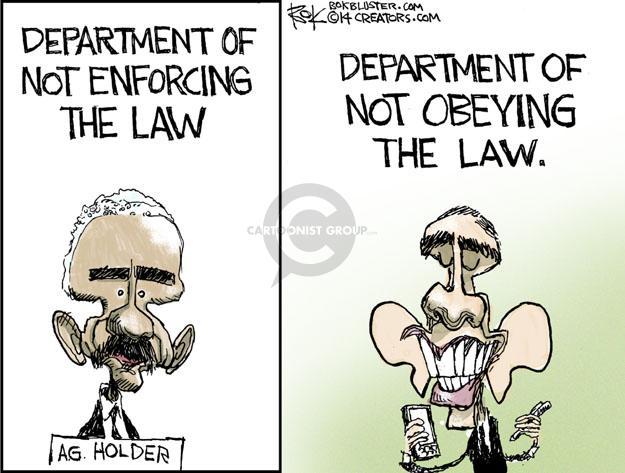 Cartoonist Chip Bok  Chip Bok's Editorial Cartoons 2014-04-10 enforcement