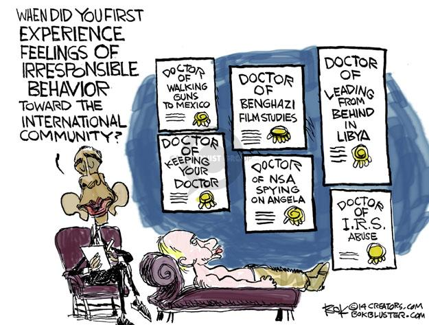 Cartoonist Chip Bok  Chip Bok's Editorial Cartoons 2014-04-16 Benghazi